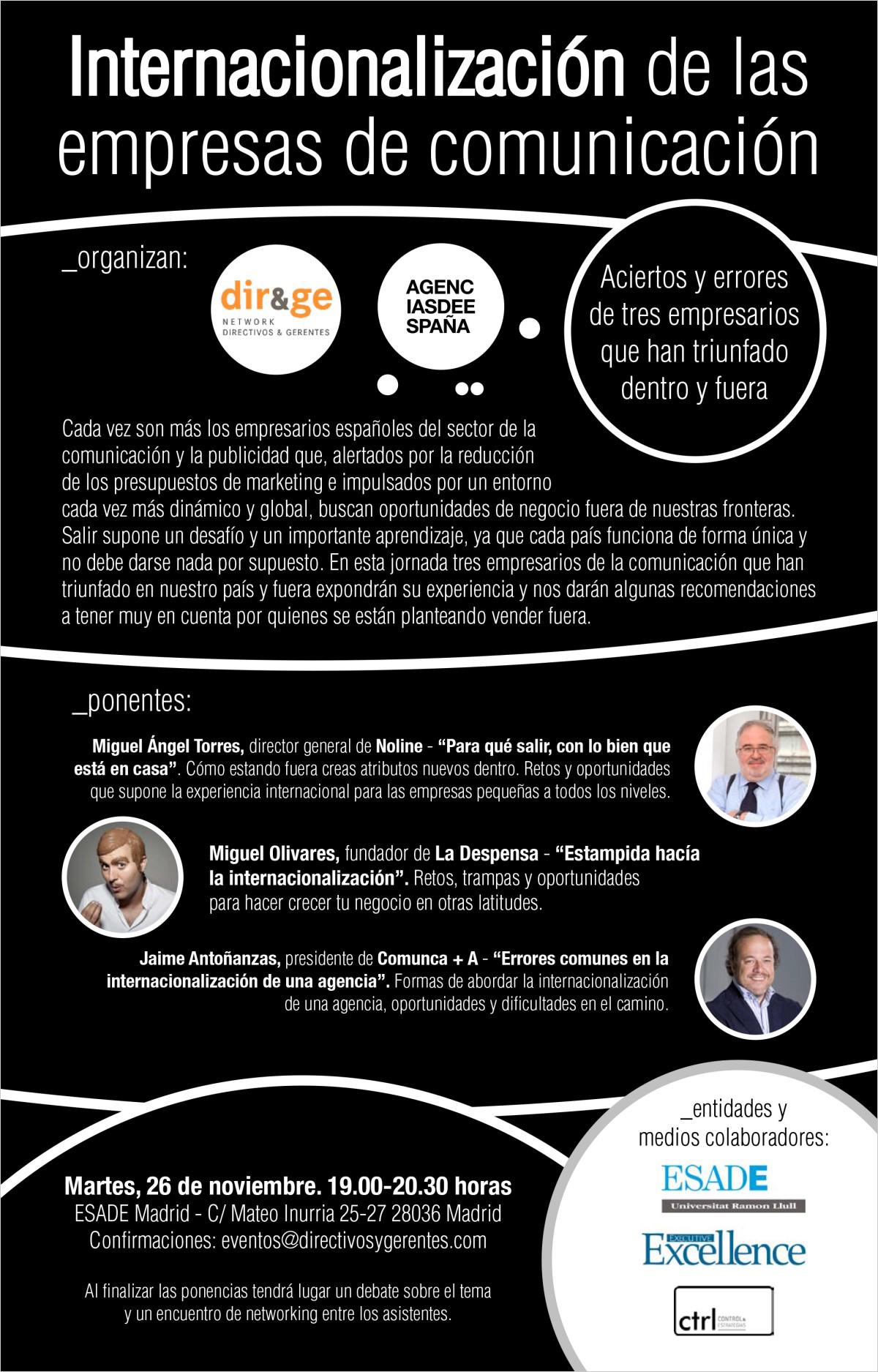 Cartel Internacionalización de las empresas de comunicación