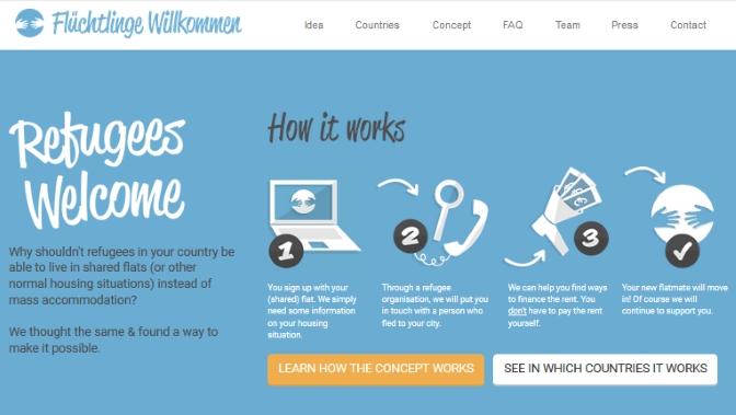 Iniciativas online como un 'Airbnb altruista' nacen para ayudar a los refugiados