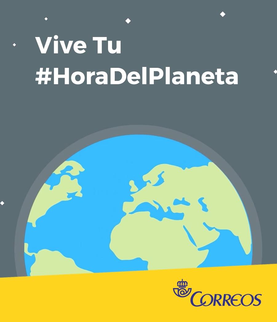 """Correos participa por séptimo año consecutivo en """"La Hora del Planeta"""""""