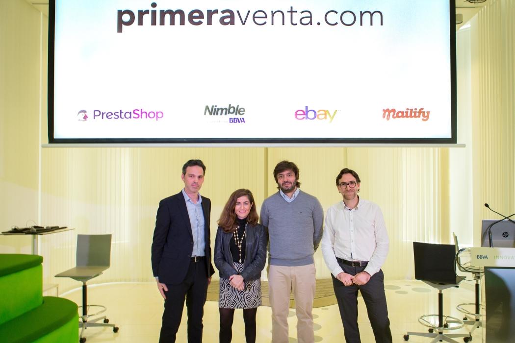 Mailify, eBay, PrestaShop y BBVA presentan la nueva plataforma online primeraventa.com