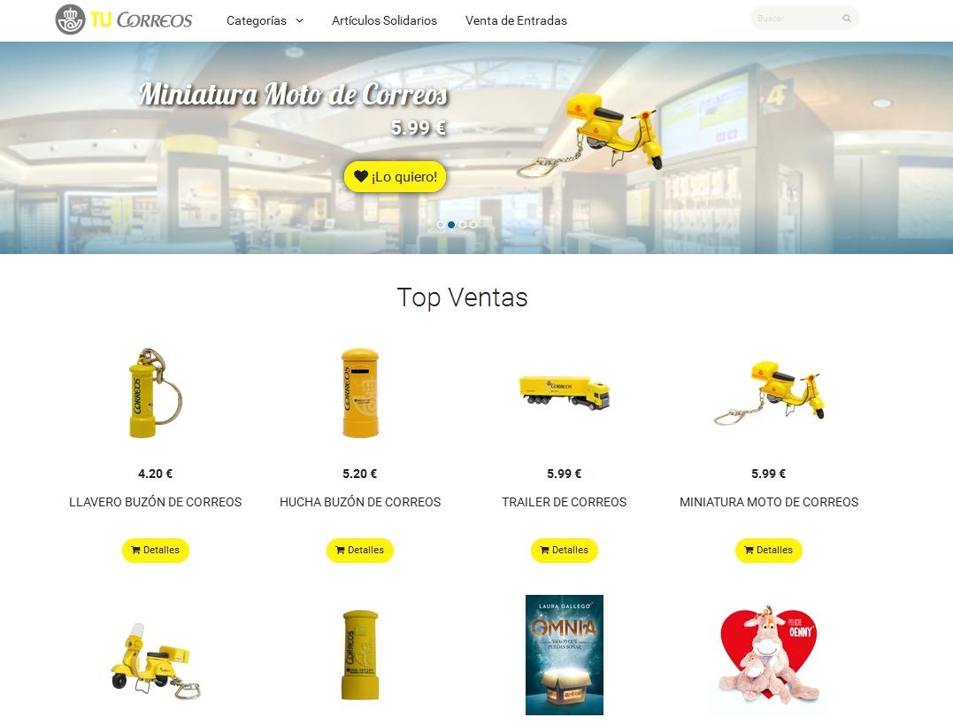 Correos estrena tienda online con TuCorreos.es