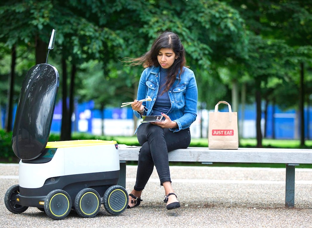 Just Eat repartirá comida con los robots autónomos de Starship Technologies