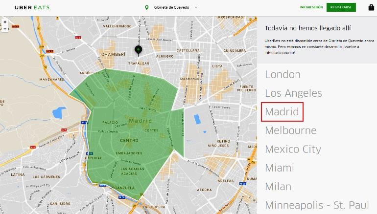UberEATS prepara su desembarco en Madrid
