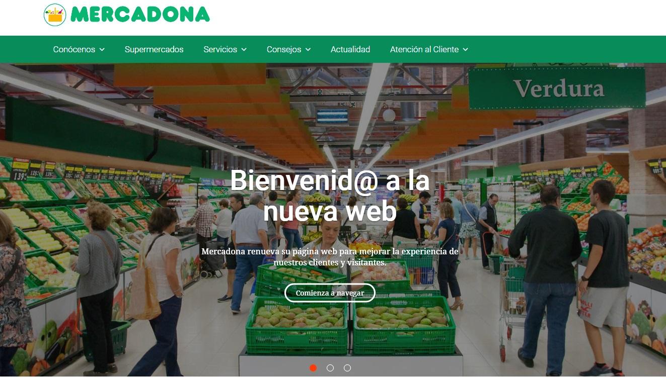 Mercadona lanza nueva web en apuesta por el eCommerce