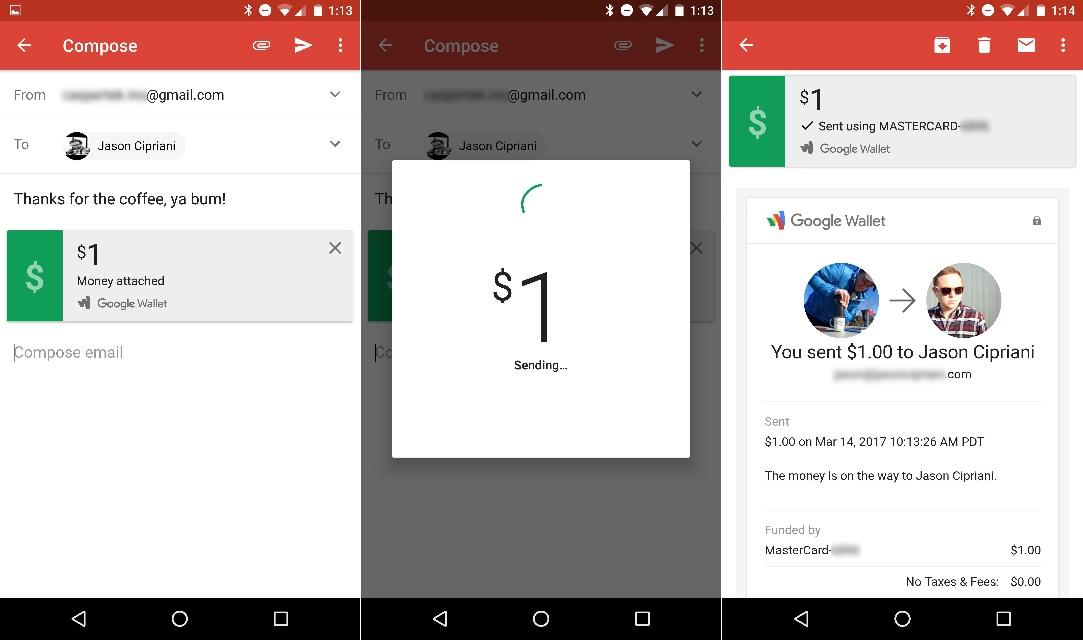 Gmail permitirá el envío de dinero a través del móvil