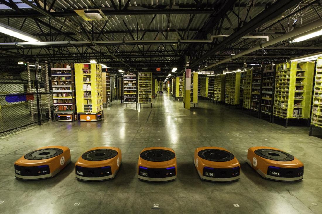 Los robots de Amazon llegan al centro logístico de Barcelona