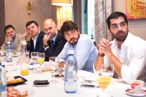 Toni Parada, Country Manager de Splio; Jaime Manso, Sales Director en Paga+Tarde; Pablo Couso, Consultor Senior de Datisa; Javier Sánchez, Director de Marketing de LOEWE Perfumes; y Daniel Lobato, Jefe de Negocio Digital en Unode50.