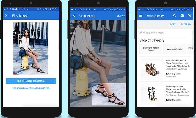 eBay permitirá buscar productos utilizando la cámara de tu Smartphone
