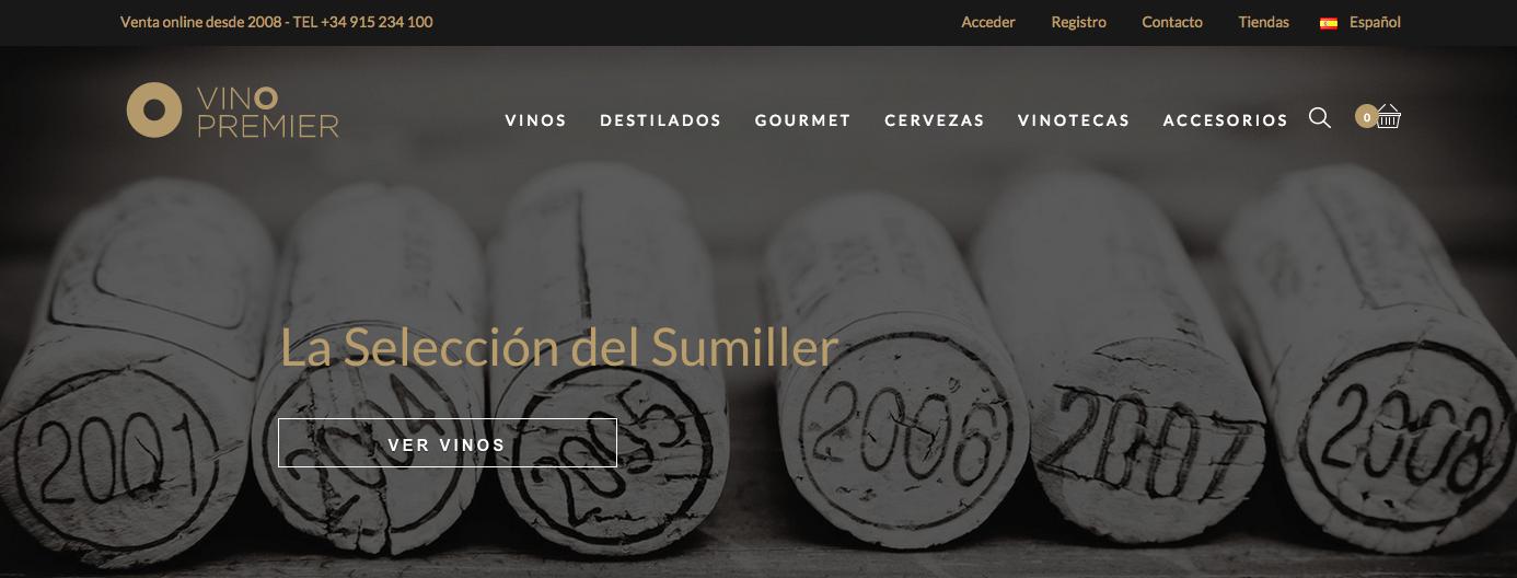 Vinopremier estrena 'web responsive' enfocada a la venta internacional