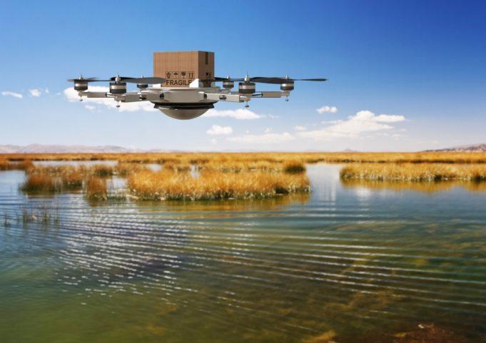 envío con drones en China