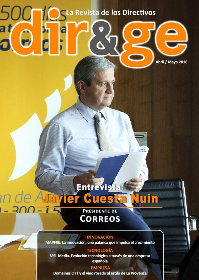 Portada revista DIR&GE Abril - Mayo 2016