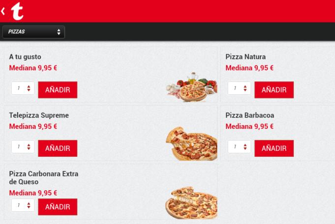 Telepizza refuerza su canal digital y crecen los pedidos online