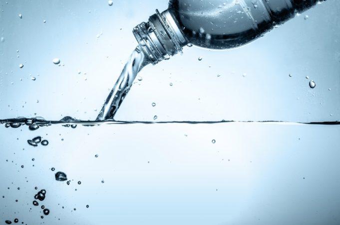burbuja agua botella plastico