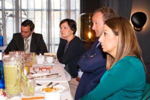 De izquierda a derecha: Juan Carlos Lozano, CEO de DIR≥ María Martínez, Co-Ceo & Founder de Laconicum; Javier Galán, Socio Director General de 20milproductos.com; Mónica de Pablos, Directora de IT, Digital & eCommerce de TRUCCO.