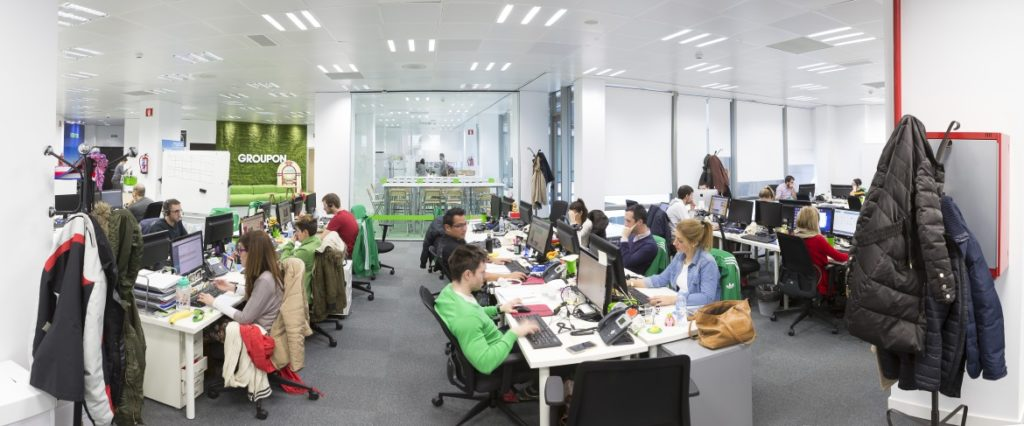 oficinas empleados groupon
