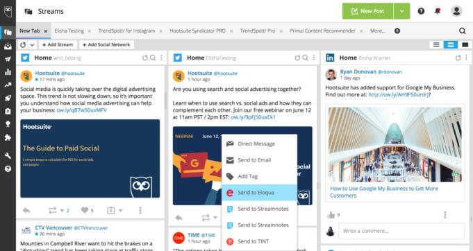 automatización de marketing Hootsuite se integra con Oracle Eloqua